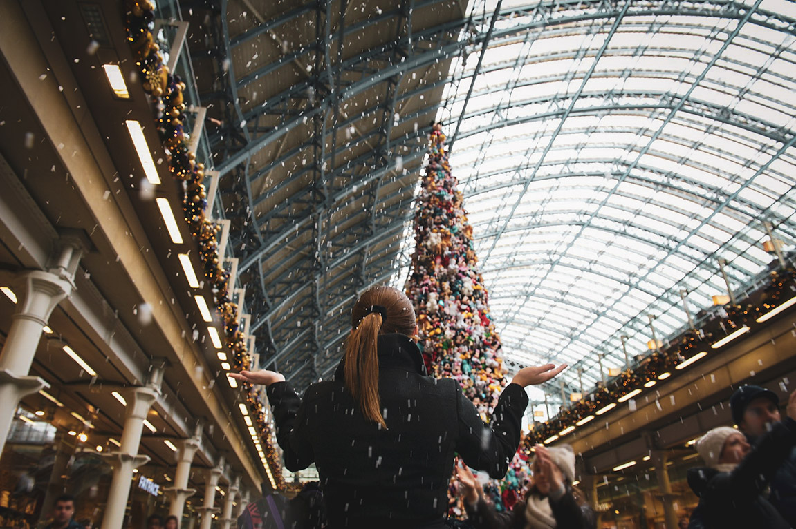 St. Pancras Station Christmas Tree